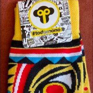 "Men's multicolor socks ""todomono""from Colombia"